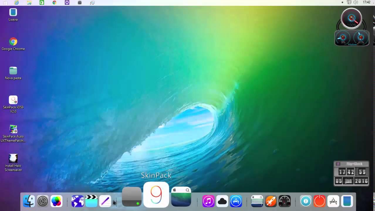 iOS 8 Skinpack For Windows 7/8/8.1