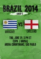 World Cup 2014 – Bảng D – England Vs Uruguay