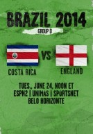 World Cup 2014 – Bảng D – Anh Vs Costa Rica