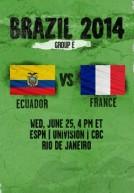 World Cup 2014 – Bảng E – Ecuador Vs Pháp